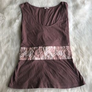 Moth • Mauve Tank with Tie